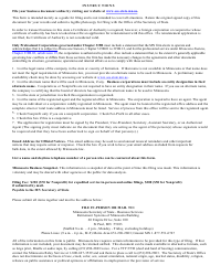 """""""Foreign Corporation or Cooperative Certificate of Authority to Transact Business in Minnesota"""" - Minnesota, Page 4"""