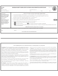 "Form M-4 ""Massachusetts Employee's Withholding Exemption Certificate"" - Massachusetts"