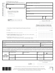"Form R-1029SE ""Fairs, Festivals, and Other Special Events Sales Tax Return"" - Louisiana"