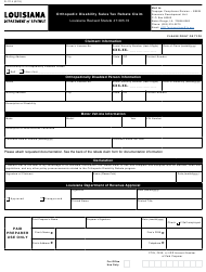 "Form R-1114 ""Orthopedic Disability Sales Tax Rebate Claim"" - Louisiana"