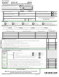 "Form 40 (EFO00089) ""Individual Income Tax Return"" - Idaho, 2019"