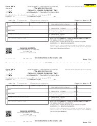 "Form FP-1 ""Franchise Tax or Public Service Company Tax Installment Payment Voucher"" - Hawaii, 2020"