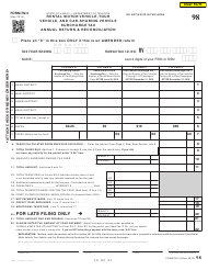 "Form RV-3 ""Rental Motor Vehicle, Tour Vehicle, and Car-Sharing Vehicle Surcharge Tax Annual Return and Reconciliation"" - Hawaii"
