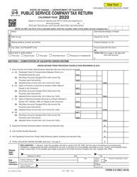 """Form U-6 """"Public Service Company Tax Return"""" - Hawaii, 2020"""