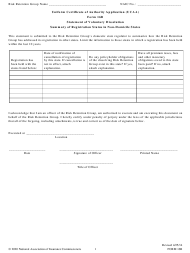 """Form 16B """"Uniform Certificate of Authority Application (Ucaa) Statement of Voluntary Dissolution - Summary of Registration Status in Non-domicile States"""""""