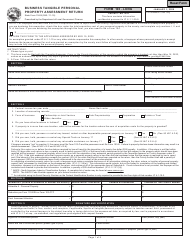 """State Form 11405 (103-LONG) """"Business Tangible Personal Property Assessment Return"""" - Indiana"""