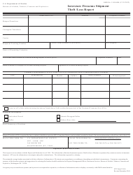 """ATF Form 3310.6 """"Interstate Firearms Shipment Theft/Loss Report"""""""