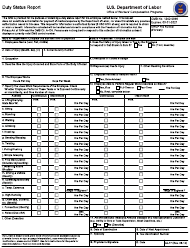 "Form CA-17 ""Duty Status Report"""
