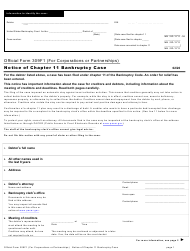 "Official Form 309F1 ""Notice of Chapter 11 Bankruptcy Case"""