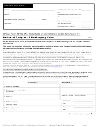 "Official Form 309E2 ""Notice of Chapter 11 Bankruptcy Case"""
