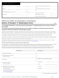 "Official Form 309E1 ""Notice of Chapter 11 Bankruptcy Case"""