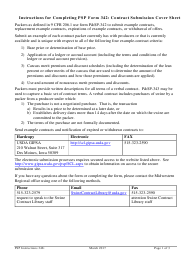"Instructions for Form P&SP-342 ""Contract Submission Cover Sheet"""
