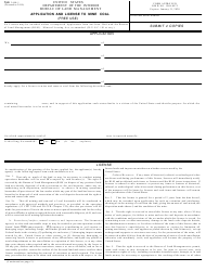 """Form 3440-1 """"Application and License to Mine Coal (Free Use)"""""""