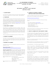 """Instructions for Form EIA-14 """"Refiners' Monthly Cost Report"""""""