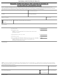 "Form NIH2963 ""Request Form for Single Trip Costing in Excess of $10,000 and Not Exceeding $25,000"""