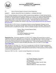 """NRC Form 664 """"General Licensee Registration"""""""
