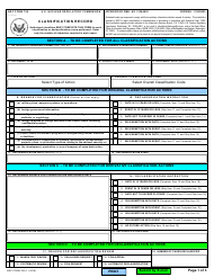 "NRC Form 790 ""Classification Record"""