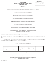 "Form F-8 (SEC Form 2290) ""Registration Statement Under the Securities Act of 1933"""