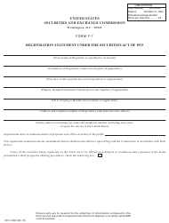 "Form F-7 (SEC Form 2289) ""Registration Statement Under the Securities Act of 1933"""