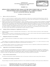 """Form T-6 (SEC Form 2275) """"Application Under Section 310(A)(1) of the Trust Indenture Act of 1939 for Determination of Eligibility of a Foreign Personal to Act as Institutional Trustee"""""""