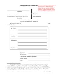 "Form 10 ""Notice of Change of Address"""