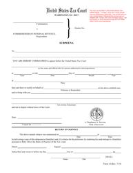 """Form 14 """"Subpoena"""""""