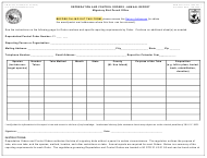 """FWS Form 3-2436 """"Depredation and Control Orders - Annual Report"""""""
