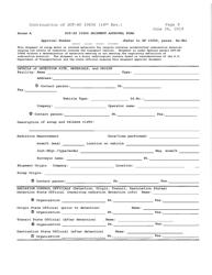 "Form DOT-SP10656 Annex A ""Shipment Approval Form"""