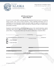 """Apsc Records Request - Agency Request"" - Alaska"