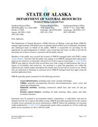 "Form 102-112 ""Application for Easement"" - Alaska"