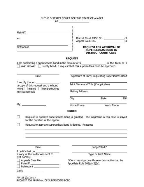 Form AP-116  Printable Pdf
