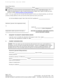 """Form DR-361 """"Motion to Modify Another State's Child Support Order"""" - Alaska"""