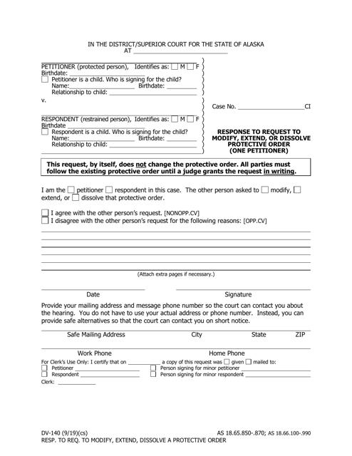 Form DV-140 Printable Pdf