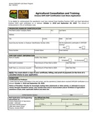 """Arizona Ghp/Gap Certification Cost Share Application"" - Arizona"