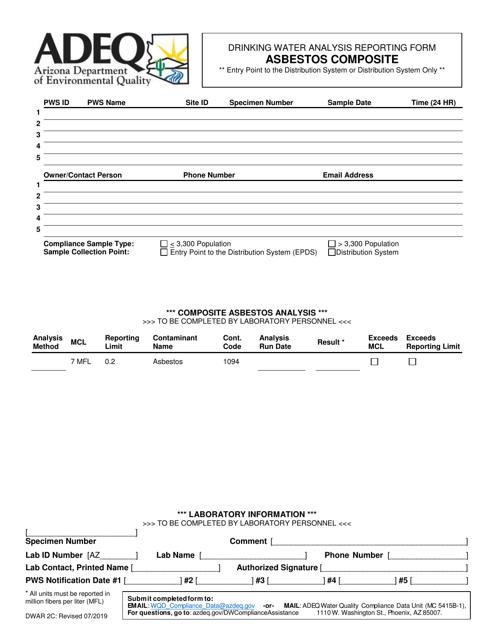 Form DWAR2C  Printable Pdf