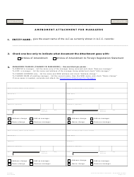 "Form L043 ""Amendment Attachment for Managers"" - Arizona"