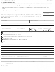 "Form ABC-219 ""Advice of Correction"" - California"