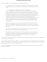 """Form ABC-247 """"Statement Re: Residences (Rule 61.4)"""" - California, Page 2"""