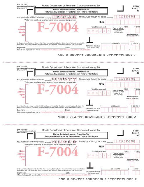 Form F-7004 Printable Pdf