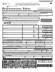 "Form 05-102 ""Texas Franchise Tax Public Information Report"" - Texas"