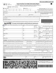 Form 05-102 Texas Franchise Tax Public Information Report - Texas