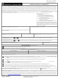 "VA Form 26-8937 ""Verification of VA Benefits"""