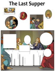 The Last Supper Puzzle Template