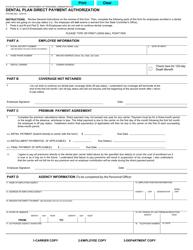 "Form STD696 ""Dental Plan Direct Payment Authorization"" - California"