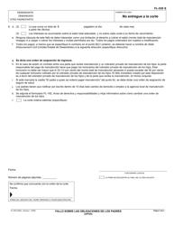 """Formulario FL-530 S """"Fallo Sobre Las Obligaciones De Los Padres (Uifsa)"""" - California (Spanish), Page 3"""