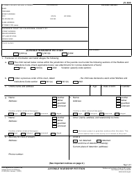 "Form JV-600 ""Juvenile Wardship Petition"" - California"
