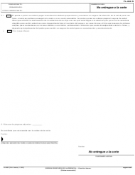 """Formulario FL-688 S """"Orden Despues De Audiencia (Version Breve)"""" - California (Spanish), Page 2"""