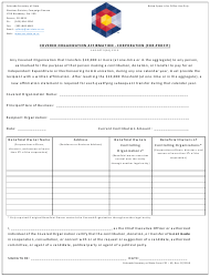 "Form CPF-49 ""Covered Organization Affirmation - Corporation (For-Profit)"" - Colorado"