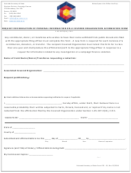 "Form CPF-52 ""Request for Redaction of Personal Information on a Covered Organization Affirmation Form"" - Colorado"