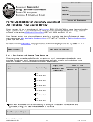 "Form DEEP-NSR-APP-200 ""Permit Application for Stationary Sources of Air Pollution - New Source Review"" - Connecticut"